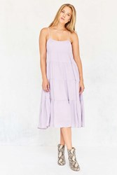Kimchi And Blue Leigh Tiered Midi Dress Lavender