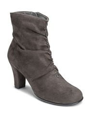 Aerosoles Good Role Faux Suede Boots Grey