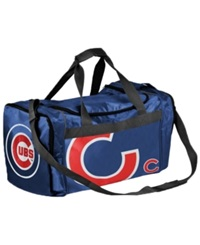 Forever Collectibles Chicago Cubs Core Duffle Bag Blue