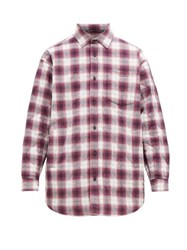 Acne Studios Padded Check Cotton Blend Shirt Multi