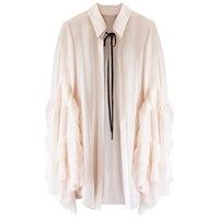 Florence Bridge Caia Ruffle Shirt Peach Neutrals