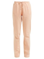 Acne Studios Logo Embroidered Cotton Track Pants Pink
