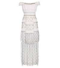 Peter Pilotto Striped Lace Dress White