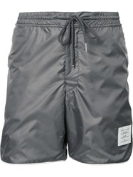Thom Browne Drawstring Track Shorts Grey