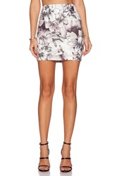 Lucca Couture High Waisted Skirt Black And White