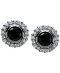 Giani Bernini Black And White Cubic Zirconia Stud Earrings In Sterling Silver Only At Macy's