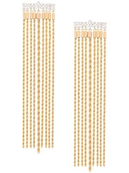 Fallon Tassel Chain Earrings Gold
