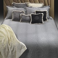 Roberto Cavalli Pantera Bed Set Grey