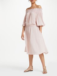 And Or Monique Metallic Sparkle Stripe Dress Desert Pink Gold Stripe