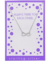 Macy's Infinity Pendant Necklace In Sterling Silver With Greeting Card