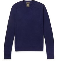 Berluti Cotton And Mulberry Silk Blend Sweater Navy