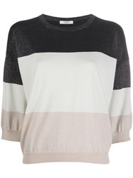 Peserico Metallic Colour Block Top 60