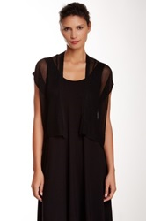 Eileen Fisher Short Sleeve Cropped Cardigan Black