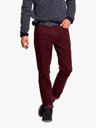 Joules Cord Trousers Burgundy