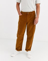 Brooklyn Supply Co. Co Wide Skate Fit Trousers In Brown