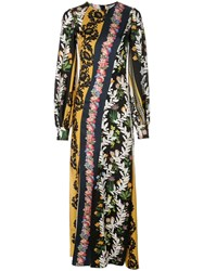 Oscar De La Renta Floral Print Maxi Dress Multicolour