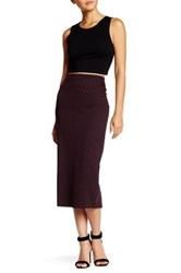 14Th And Union Geo Cube Pencil Skirt Petite Red