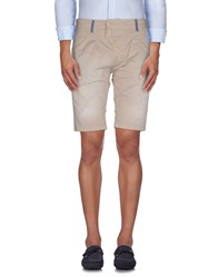 X Cape Trousers Bermuda Shorts Men Beige