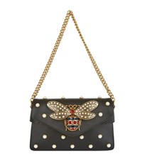 Gucci Broadway Bee Embellished Bag Female Black