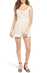 Astr The Label Women's Ruffle Trim Lace Romper