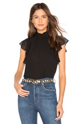 1.State Flutter Sleeve Top Black