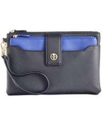 Giani Bernini Saffiano Wristlet Only At Macy's Black Cobalt