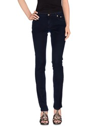 Siviglia Denim Denim Denim Trousers Women Dark Blue