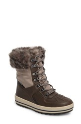 Cougar Women's Viper Waterproof Snow Boot With Faux Fur Trim Taupe Oatmeal