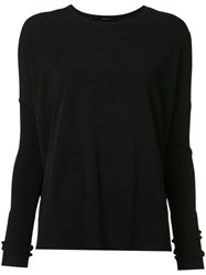 Victor Alfaro Crew Neck Jumper Women Polyester Viscose Xs Black