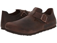 Birkenstock London Habana Oiled Leather 1 Slip On Shoes Brown