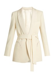 Blaze Milano Midnight Smoking Resolute Wool Blazer Cream