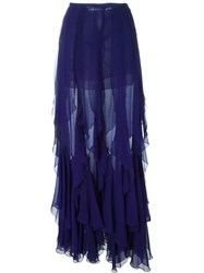 Plein Sud Jeans Plein Sud Ruffled Long Skirt Blue