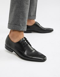 Office Glide Derby Shoes In Black Leather