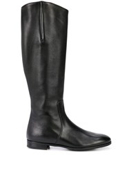 Gravati Knee Length Zipped Boots Black