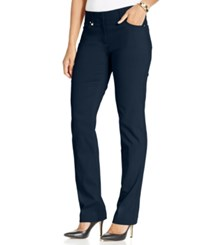 Jm Collection Curvy Fit Straight Leg Pants Intrepid Blue