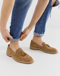 Selected Homme Tassel Loafers In Tan