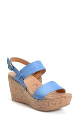 Women's Kork Ease 'Austin' Slingback Wedge Sandal Cerulean Leather