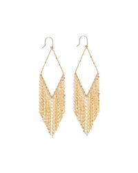 14K Diamond Shaped Fringe Hoop Earrings Lana Gold