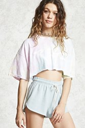 Forever 21 Side Ribbed Dolphin Shorts Sky Blue