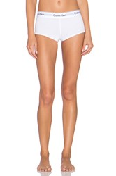 Calvin Klein Underwear Modern Cotton Boy Short White