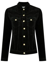 Amapo Velvet Jacket Women Cotton Elastodiene G Black