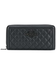 Love Moschino Quilted Logo Wallet Black