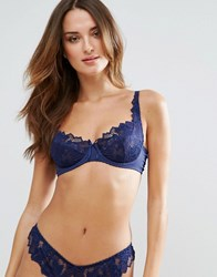 Lepel Navy Fiore Underwire Bra A G Cup Blue