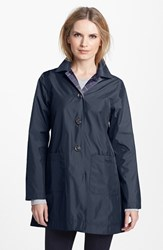 Women's Barbour 'Derby Mackintosh' Reversible Raincoat Navy