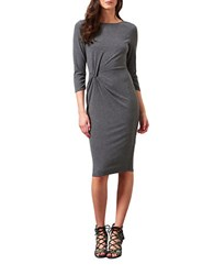 Miss Selfridge Twisted Sheath Dress Grey