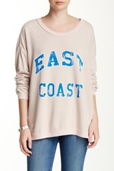 Rebel Yell East Coast Strokes Oversized Pullover Beige