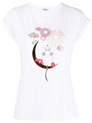 Liu Jo Crystal Embellished Graphic T Shirt 60