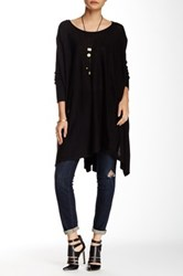 Romeo And Juliet Couture Asymmetrical Sweater Black