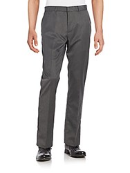 Perry Ellis Regular Fit Herringbone Trousers Charcoal