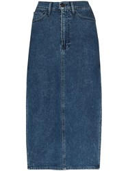 3X1 Cami Side Split Denim Midi Skirt 60